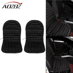 AOZBZ 2pcs Heated Conjoined Car Heated Seat Cushion Heating Pad Cover Hot Warmer Separated Control HI/LO Mode Winter Drive 12V