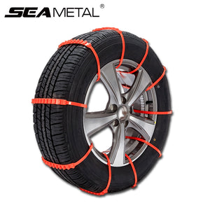 SEAMETAL 10Pcs Car Tire Snow Chains