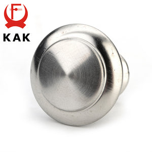 KAK Diameter 24mm 28mm Zinc Satin Nickel Cabinet Pull Cupboard Drawer Handle Knobs Wardrobe Handle With Screw Furniture Hardware