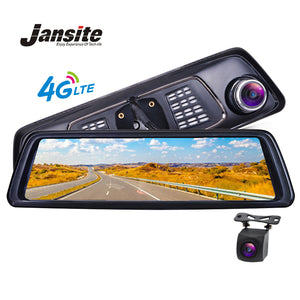 "Jansite Car Dvr 10""Full Touch IPS 4G Android Mirror GPS FHD 1080P Car Camera vehicle rearview mirror camera ADAS BT WIFI DushCam"