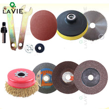 LA VIE 12pcs Disc Polishing Wheel Wood Saw Blade Wire Wheel Abrasive Paper Electric Drill Angle Grinder Connecting Rod Cut Metal