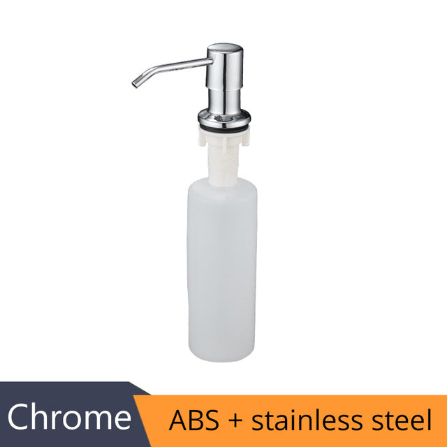 Deck Mounted Kitchen 400ml Soap Dispensers Stainless Steel Pump Chrome Finished for Kitchen Built in Counter top Dispenser 2309