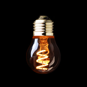 G45  Amber Shape,3W Dimmable Edison  LED  Spiral Filament Bulb ,Super warm 2200K,E26 E27 Base,Decorative Household Lighting