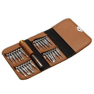 Leather Case 25 In 1 Screwdriver Set
