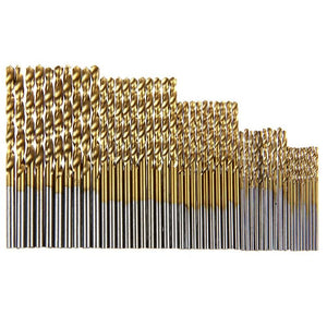 50Pcs/set HSS Titanium Coated Drill Bits