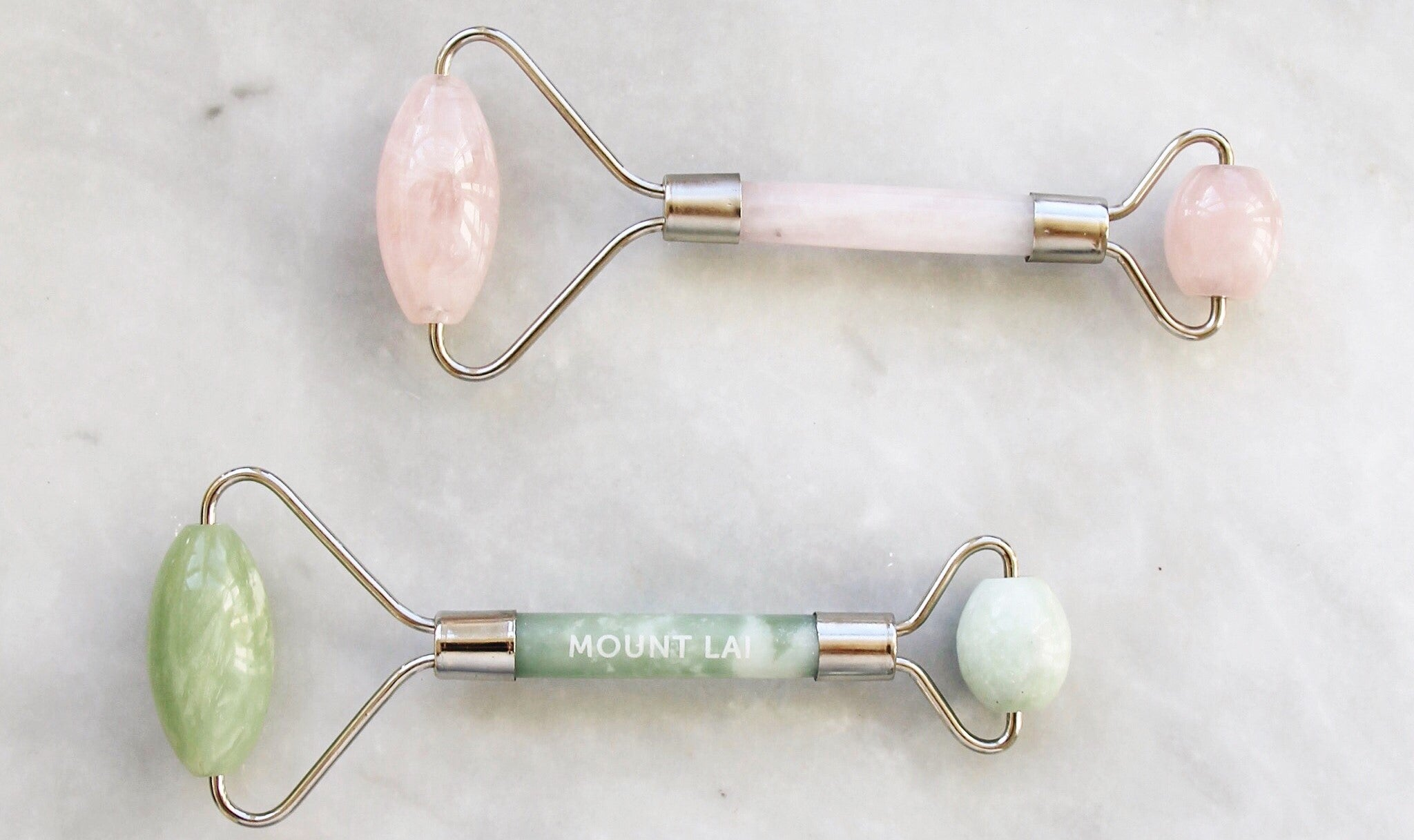 JADE & ROSE QUARTZ ROLLING