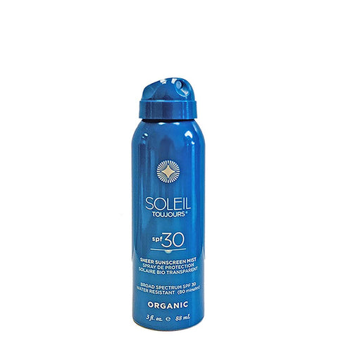 Soleil Toujours ORGANIC SHEER SUNSCREEN MIST SPF 30 - TRAVEL