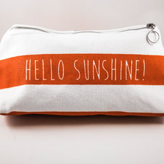 Suntegrity HELLO SUNSHINE CANVAS MAKE-UP BAG