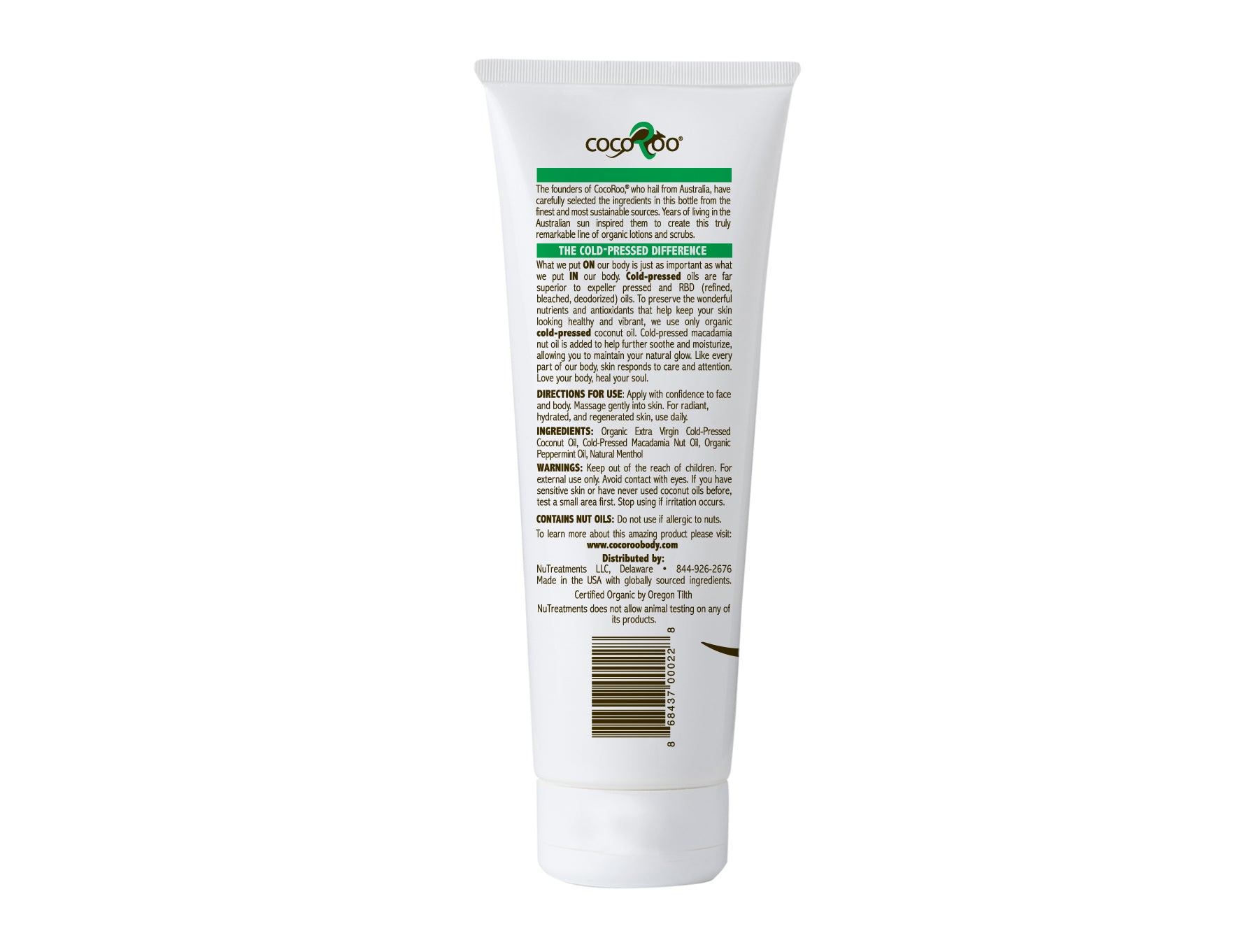 CocoRoo MINT CONDITION ORGANIC COCONUT OIL MOISTERIZER