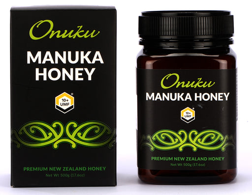 Onuku Certified Manuka Honey UMF 10 Plus, MGO 264 Plus, Authentic Manuka Honey New Zealand, Non GMO, 500 Gram, Jar, 17.6 Ounce