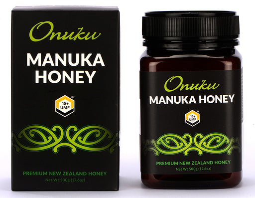 Onuku Certified Manuka Honey UMF 15 Plus, MGO 515 Plus, Authentic Manuka Honey New Zealand, Non GMO, 500 Gram, Jar, 17.64 Ounce