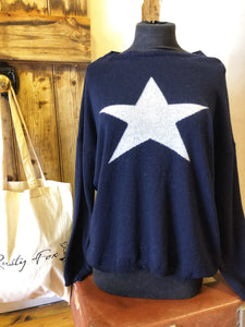 Navy/Grey star Luella jumper