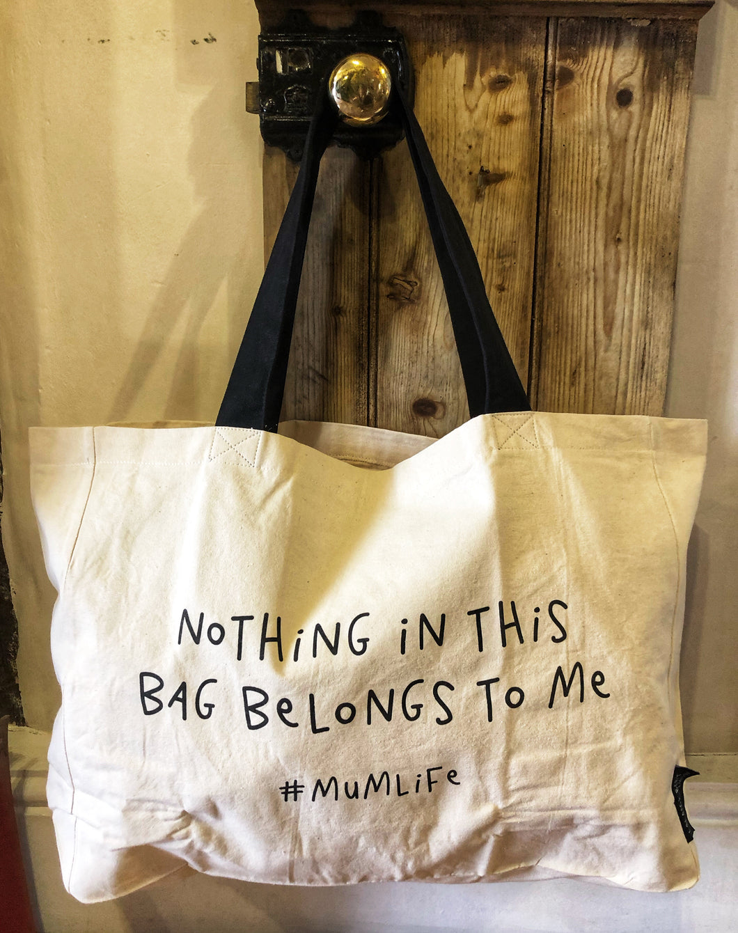 Nothing in this bag large tote bag