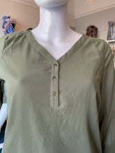 Fransa Chiffon Button Top