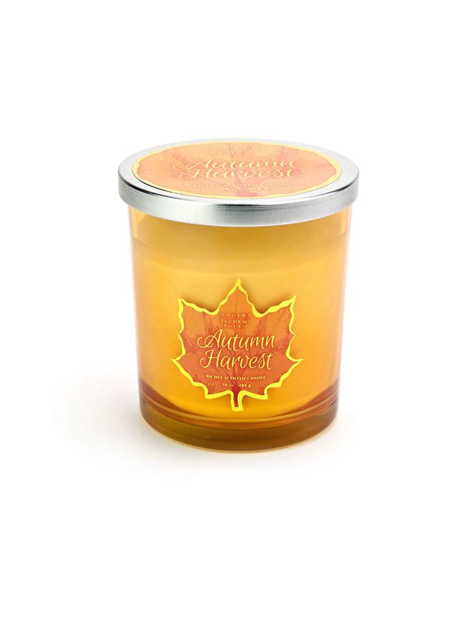 10oz Fall Leaf Yellow Candle - Autumn Harvest