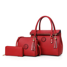 New Luxury  PU Leather Tassel Handbag 3 Pcs Composite Bags - OrganicShiny
