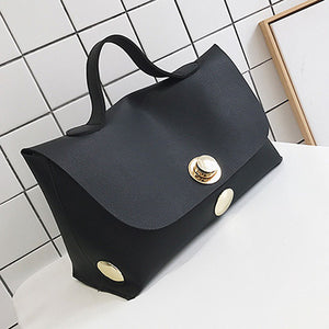 Fashion Luxury Lock Women High Quality Pu Leather Bags - OrganicShiny