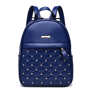 Fashion Rivet Causal bead female shoulder bag PU Leather - OrganicShiny