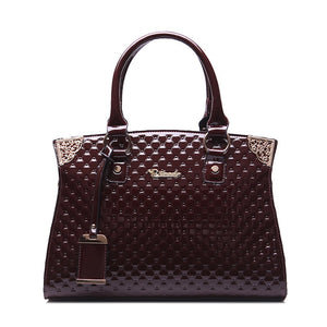 New Arrival Genuine Leather Handbag Embossed Vintage - OrganicShiny