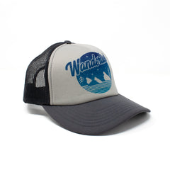 Wanderlust Trucker Hat Grey