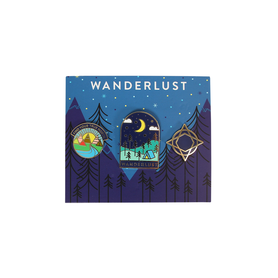 Wanderlust Pin Set