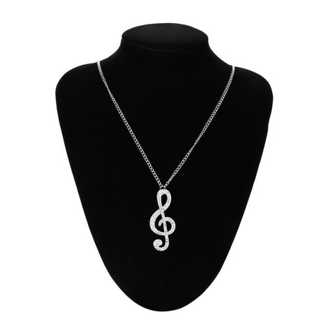 Crystal Music Note Pendant
