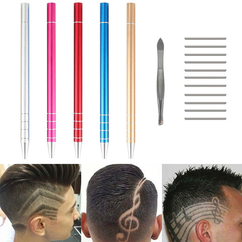 Hair Engraving Pen with 10 Blades