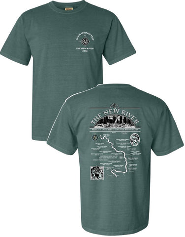 New River or Gauley River Map T-Shirts