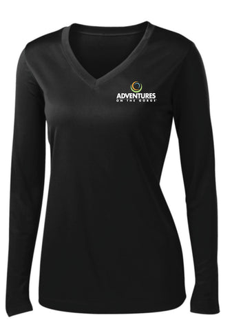 Sport-Tek Ladies Long Sleeve V-Neck Tee