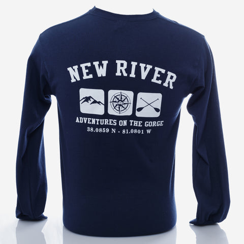 Triple Print Long Sleeve - New River Gorge