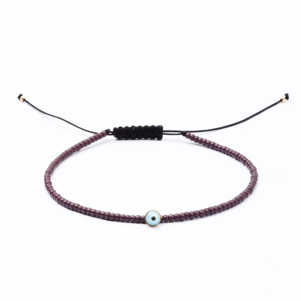 Evil Eye bracelet with black beads