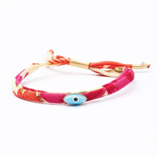 Classic Evil Eye on silk pattern
