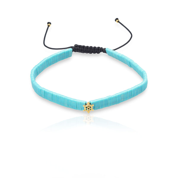 MINI TURTLE AND TURQUOISE BRACELET