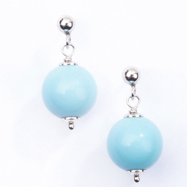 Turquoise Beads on Silver