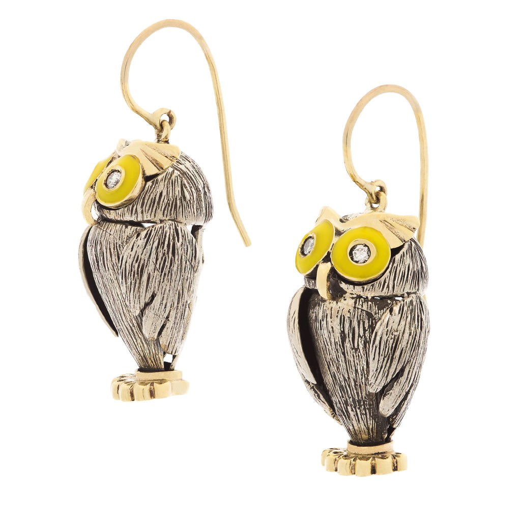 Vintage Style Owl Earrings