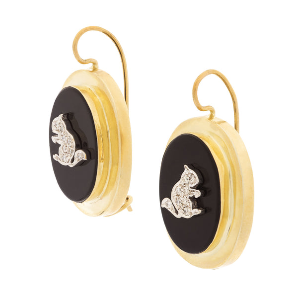 Vintage Style Squirrel earrings