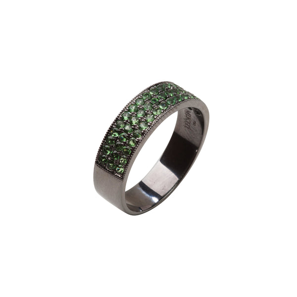 18KT gold tsavorite ring, for men and women