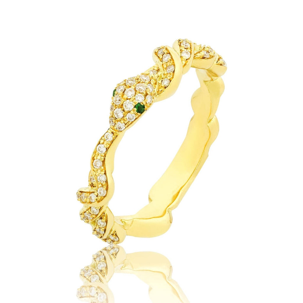 Iced Serpentine Ring