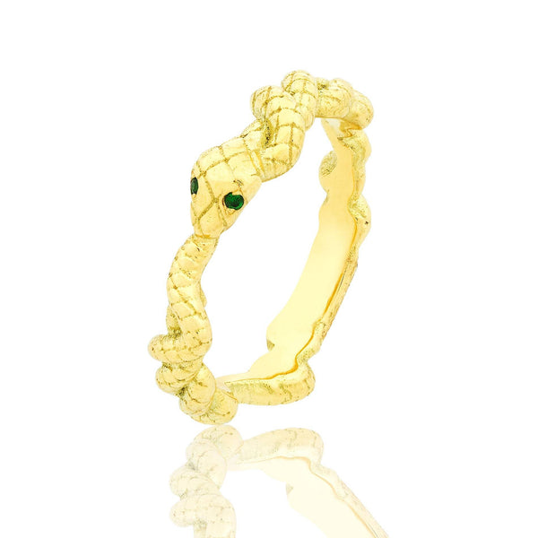 Gold Serpentine Ring