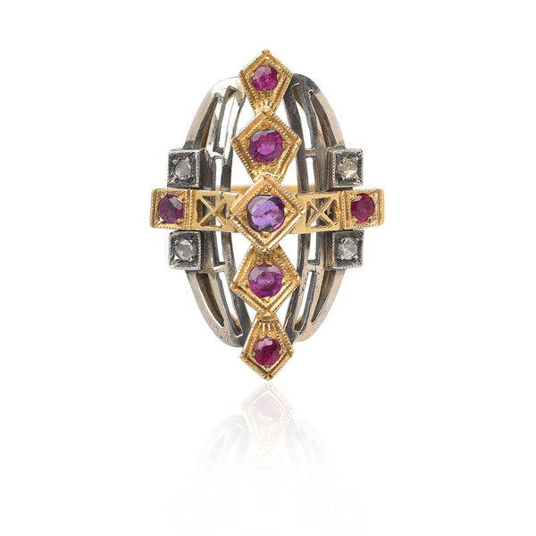 ROCK STAR RUBY RING