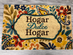 Hogar Dulce Hogar  - Welcome Mat from our Spanish Language Collection