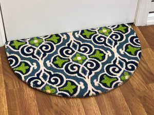 "Marrakesh Scroll Welcome Mat - ""D"" Shaped"