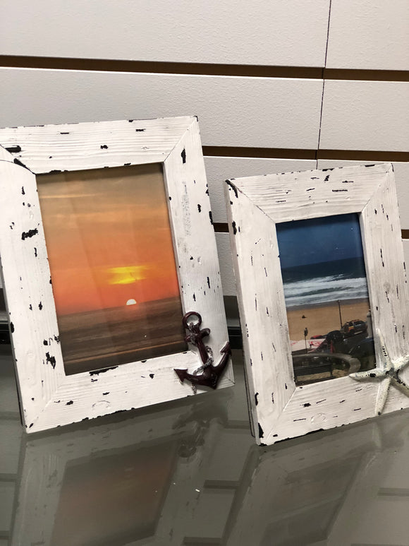 Seaside Beach Life Picture Frame Set of Two Frames