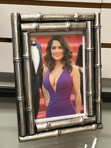 Silver Bamboo 4 inch by 6 inch picture frame