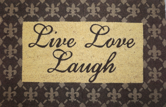 Live Love Laugh Welcome Mat