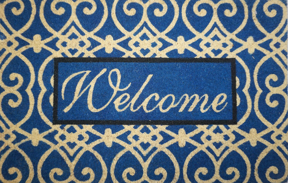 Fancy Scroll Welcome Mat