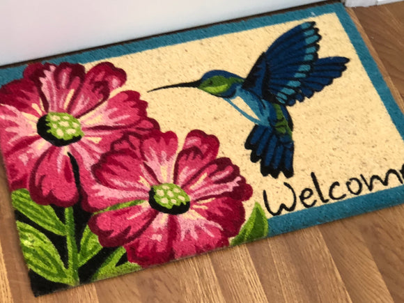 Hummingbird Welcome Mat