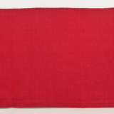 Famous Designer Hemstitch Rectangular Place Mats in Red & Dusty Blue, 14 inches x 20 inches