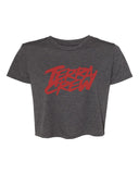 WOMANS CROP TOP GREY/RED