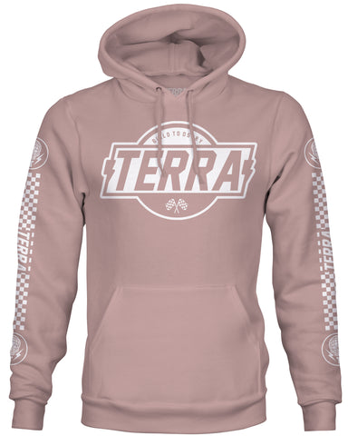 HEAVYWEIGHT MOTO HOODIE - DUSTY ROSE